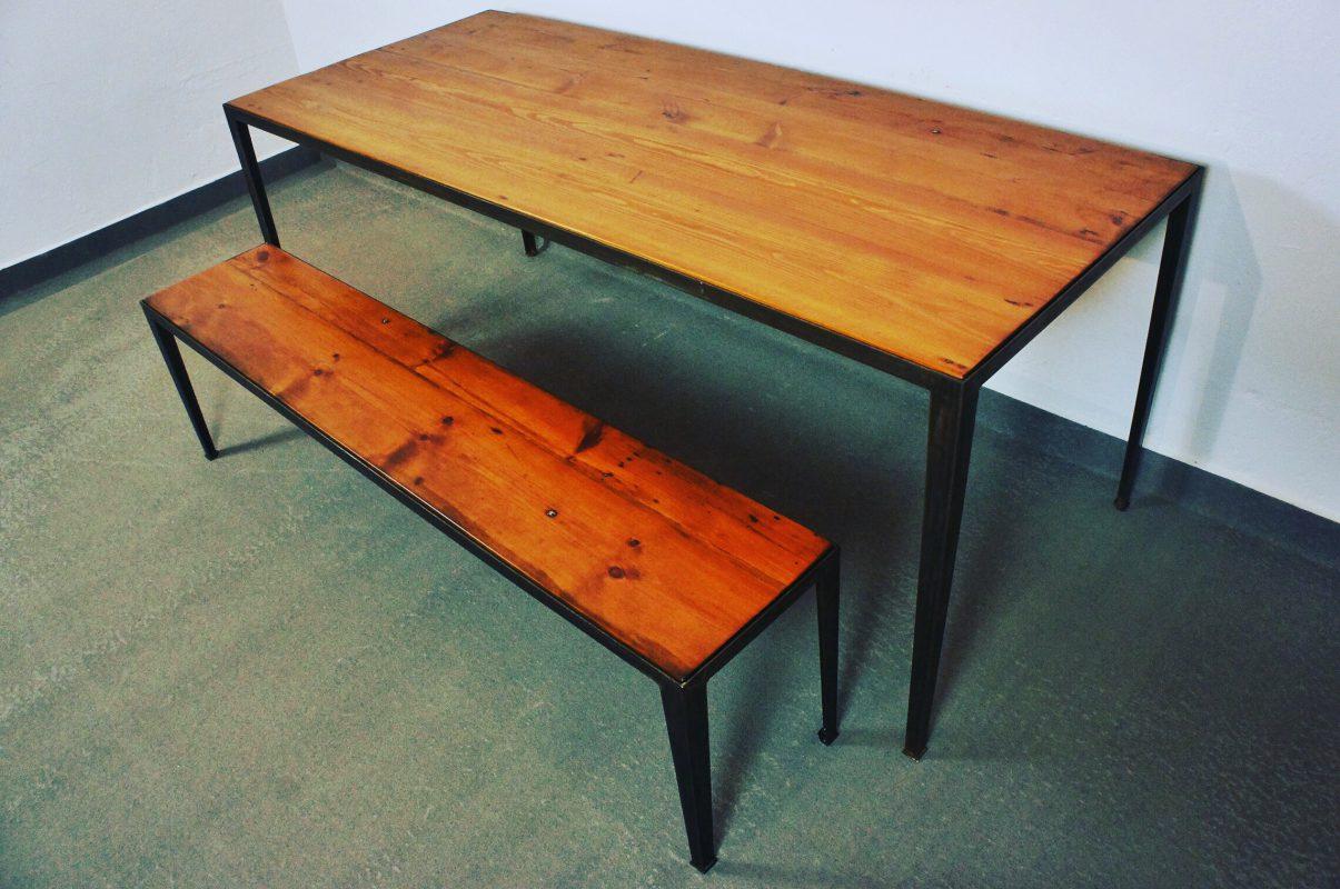 Maß-Tisch und Sitzbank Metallgestell
