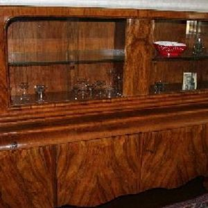 Art Deco Vitrine Nussbaum Werkstatt