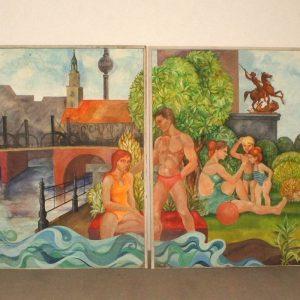 DDR Dekoration Original groß 3 Meter