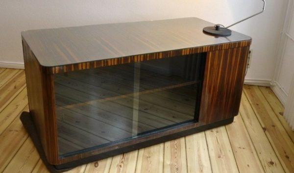 Bauhaus Schreibtisch Werkstatt Glastüren Regal