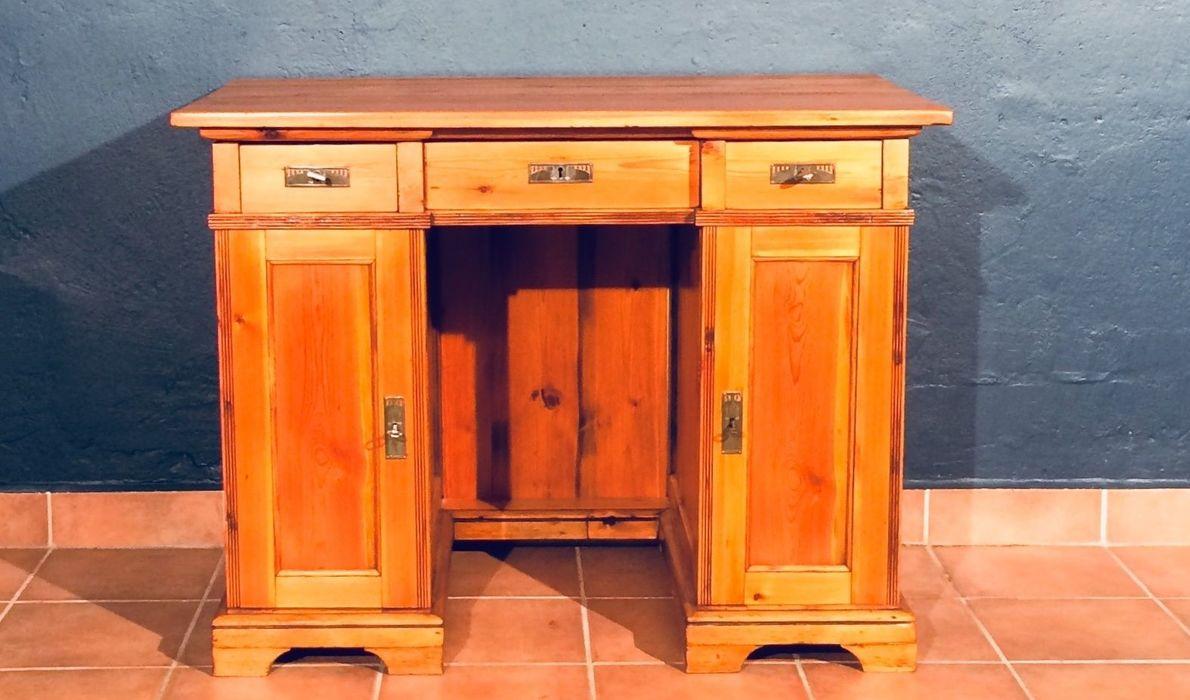 Kiefer Schreibtisch Tisch Schubladen