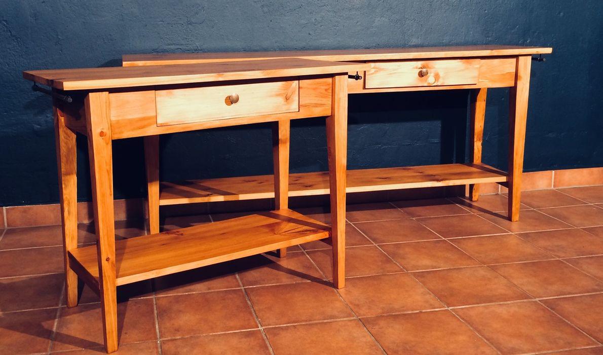 Tisch Kiefer Anfertigung gebaut Werkstatt