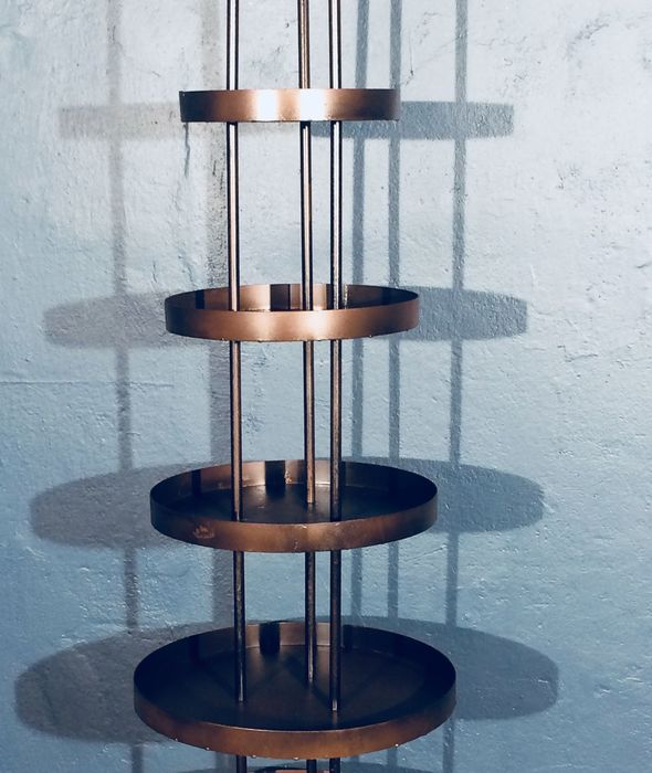 Bauhaus Art Deco Metall Regal
