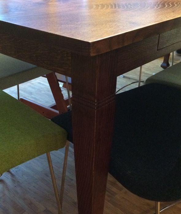 Werkstatt gebaut Eiche Tafeltisch