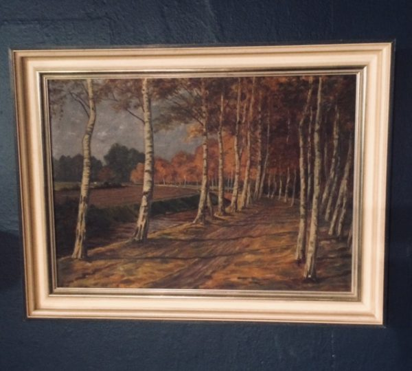 Gemälde Birken