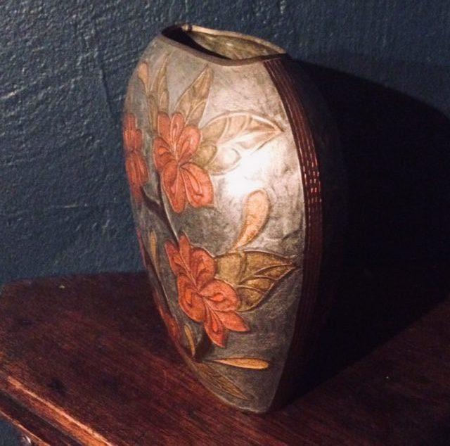 seitlich Vase