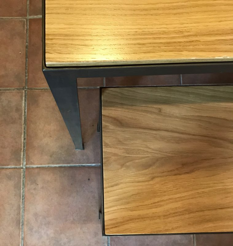 Detail Tisch und Bank Maßanfertigung