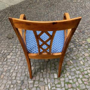Art Deco Stuhl hinten